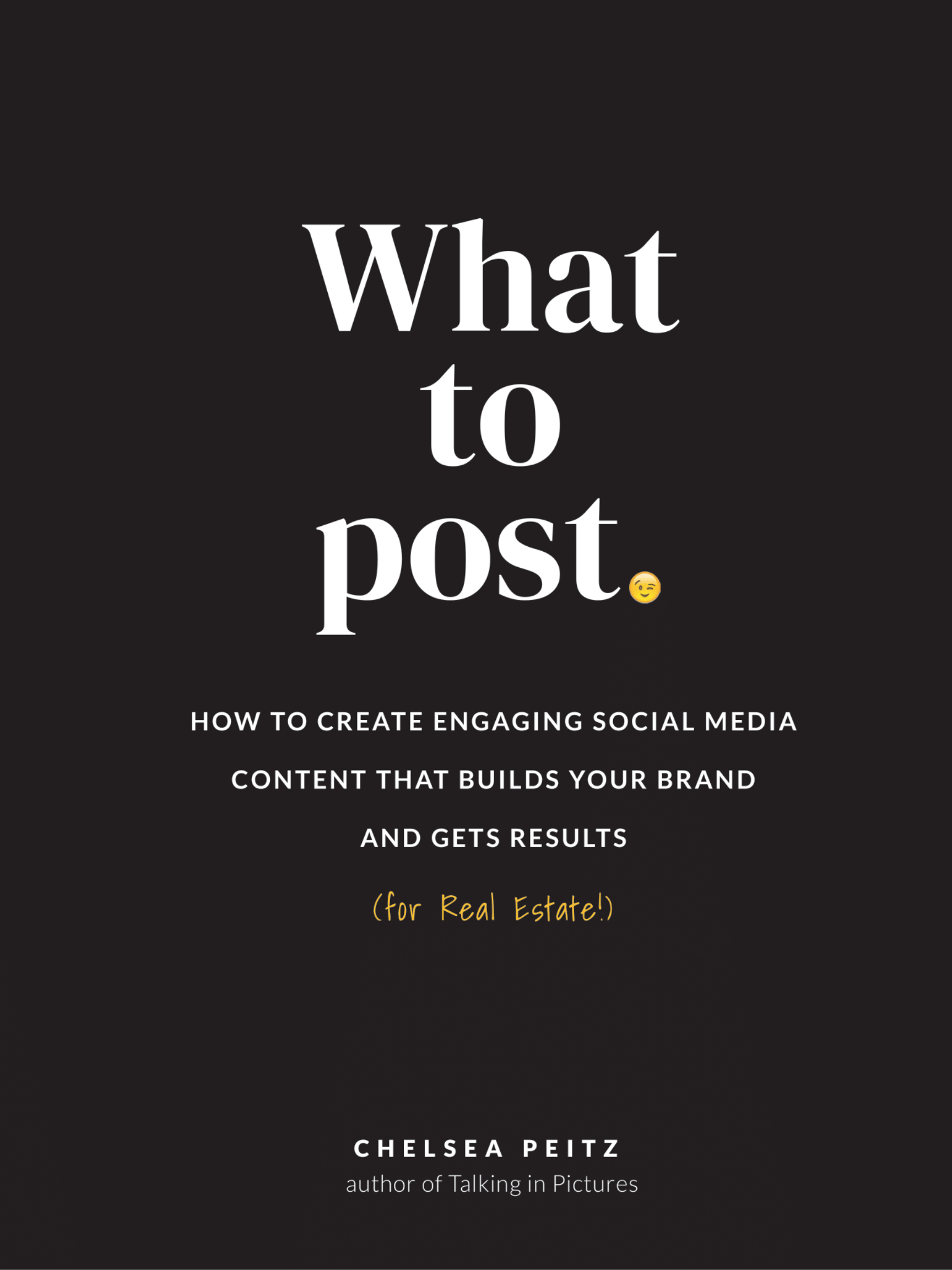 What to Post Book Chelsea Peitz Black Cover Social Media Content